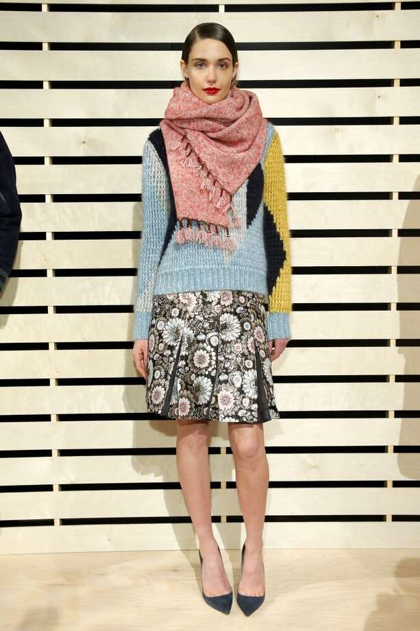 A model poses at J.Crew presentation during Mercedes-Benz Fashion Week Fall 2014 at The Pavilion at Lincoln Center on February 11, 2014 in New York City.  (Photo by Jemal Countess/Getty Images) Photo: Jemal Countess, Getty Images