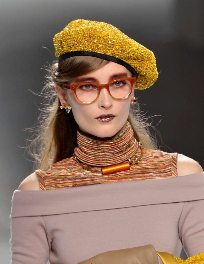 The Rodarte Fall 2014 runway collection included eyeglasses created by Oliver Peoples, and was inspired by the childhood of designers Laura and Kate Mulleavy. (Photo by Slaven Vlasic/Getty Images) Photo: Slaven Vlasic, Getty Images