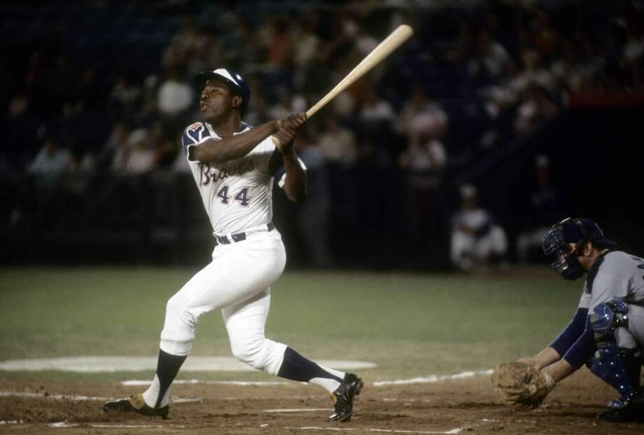 Atlanta/Milwaukee/Boston Braves: Hank Aaron Photo: Focus On Sport, Getty Images