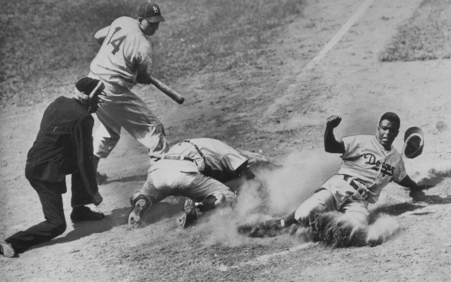 Los Angeles/Brooklyn Dodgers: Jackie Robinson Photo: Afro Newspaper/Gado, Getty Images