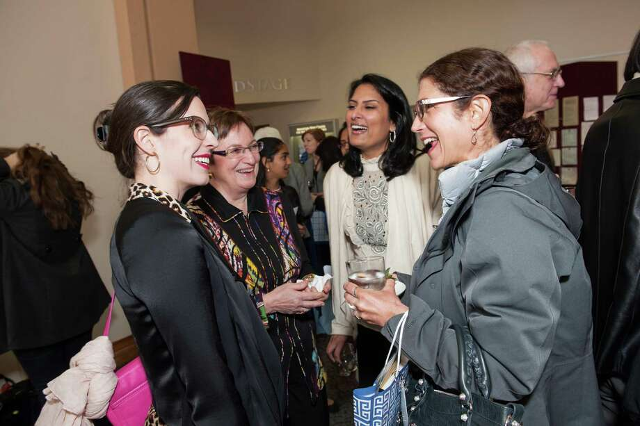 Lauren Gunderson, Ann Bowers, Mira Veda and Karen Zuckerberg at TheatreWorks Leading Ladies event celebrating arts and innovation on February 8, 2014. Photo: Susana Bates For Drew Altizer, Drew Altizer Photography / Drew Altizer Photography