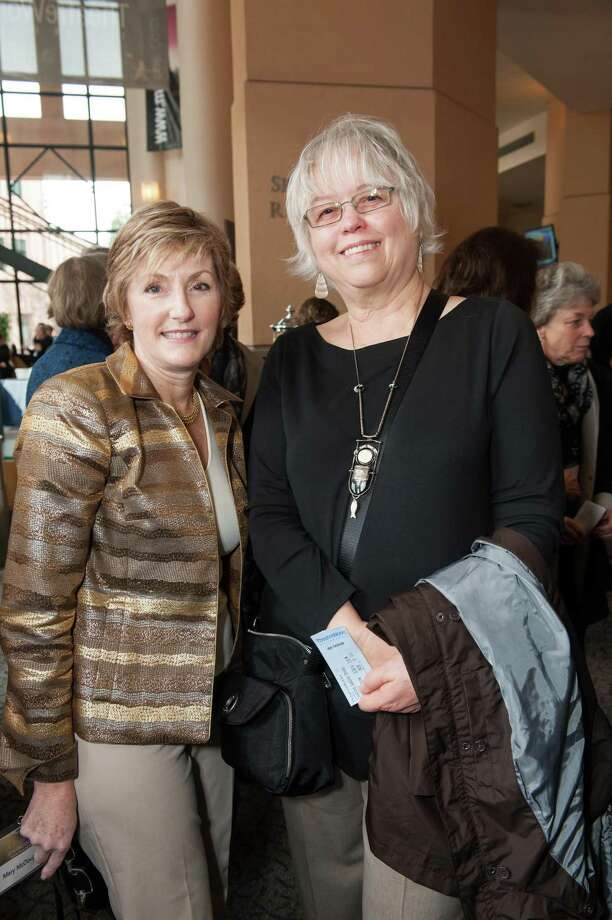 Mary McDougall and Lynnea Johnson at TheatreWorks Leading Ladies event celebrating arts and innovation on February 8, 2014. Photo: Susana Bates For Drew Altizer, Drew Altizer Photography / Drew Altizer Photography