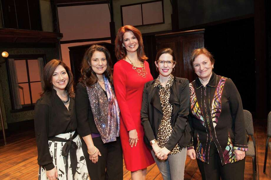 Randi Zuckerberg, Dr. Natalie Batalha, Jenny Dearborn, Lauren Gunderson and Ann Bowers at TheatreWorks Leading Ladies event celebrating arts and innovation on February 8, 2014. Photo: Susana Bates For Drew Altizer, Drew Altizer Photography / Drew Altizer Photography