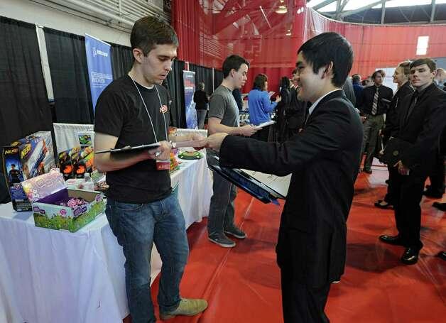 photos career fair at rpi times union