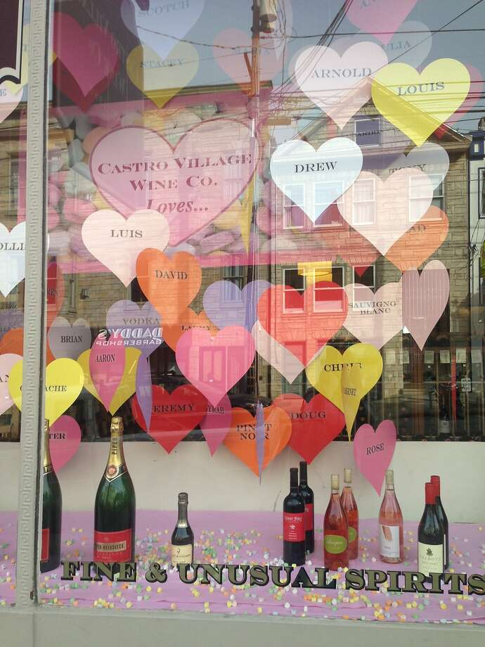 Love is in the air in the Castro, just in time for Valentine's Day. Here are some store and shop windows. Photo: Julian Guthrie