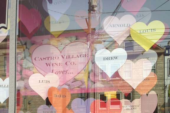 Love is in the air in the Castro, just in time for Valentine's Day. Here are some store and shop windows.