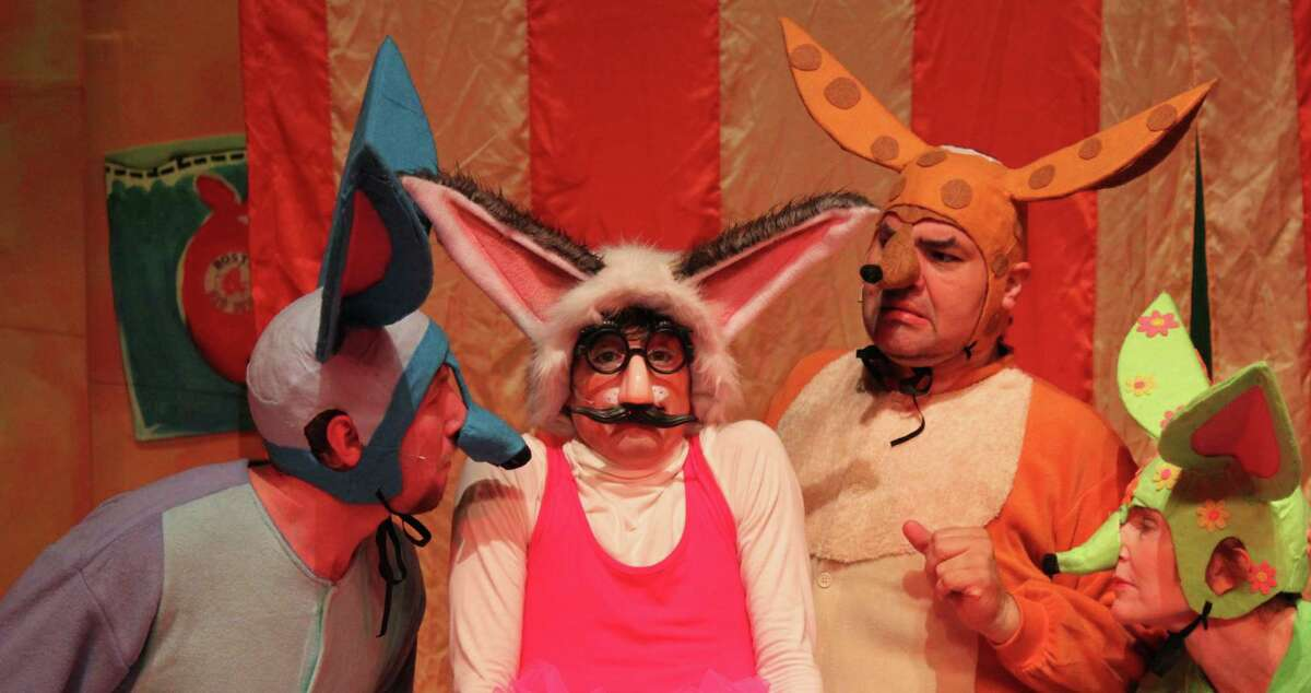 Sam Weeks (from left), Anthony Bosmans, Richard Solis and Angela Hoeffler star in Magik Theatre's