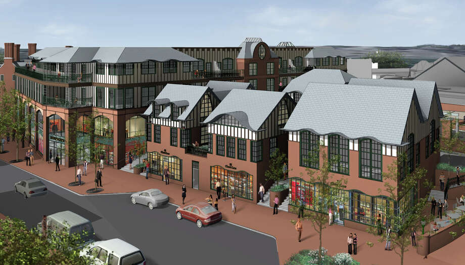 The proposed Bedford Square multi-use development to rise around the current Family Y building is just one of several high-profile downtown projects either in the works or on the drawing board. Photo: Contributed Photo / Westport News