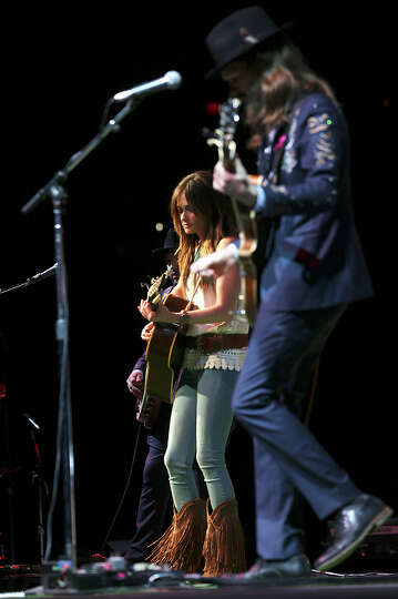 Grammy award winning Kacey Musgraves performs after the San Antonio Stock Show Rodeo at the AT&T Cen