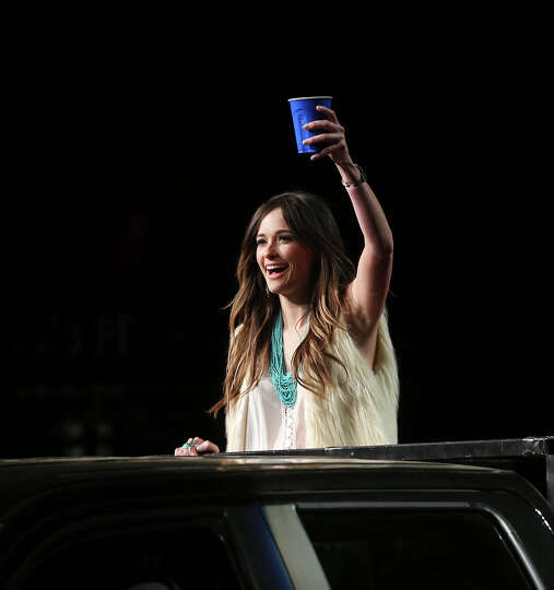 Grammy award winning Kacey Musgraves arrvies for her performance after the San Antonio Stock Show Ro
