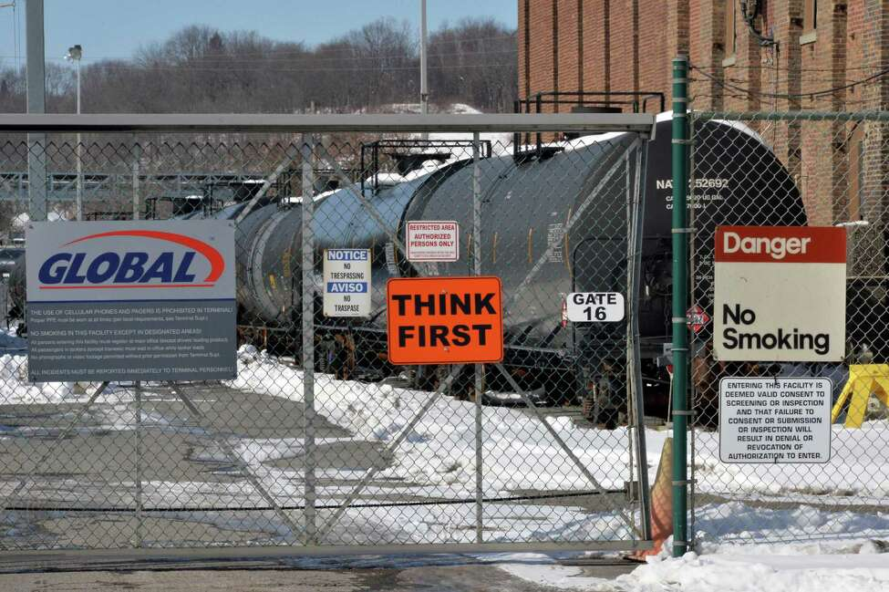 Rail tank cars at the Global facilities at the Port of Albany Wednesday, Feb. 12, 2014, in Albany, N.Y. (John Carl D'Annibale / Times Union)