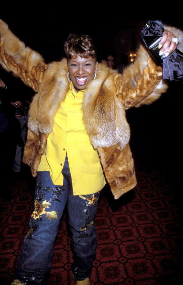 Missy Elliott during Tommy Hilfiger Fall 2000 Fashion Show - Backstage at Macy's in New York City, New York, United States. (Photo by KMazur/WireImage) Photo: KMazur, WireImage / WireImage