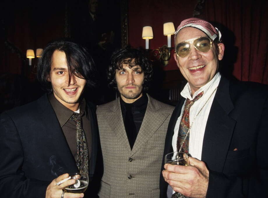 "Hunter Thompson, with Johnny Depp and Vincent Gallo during the ""Fear and Loathing in Las Vegas"" 25th Anniversary Party in New York City, New York, United States. (Photo by KMazur/WireImage) Photo: KMazur, WireImage / WireImage"