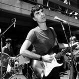 David Byrne of The Talking Heads performs live at University of California Berkeley in 1978 in Berkeley, California. (Photo by Richard McCaffrey/Michael Ochs Archive/Getty Images)