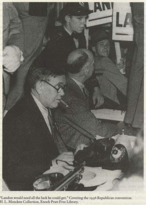 H.L. Mencken covering the 1936 Republican convention. Photo: NO BYLINE, H.L. Mencken Collection, Enoch P