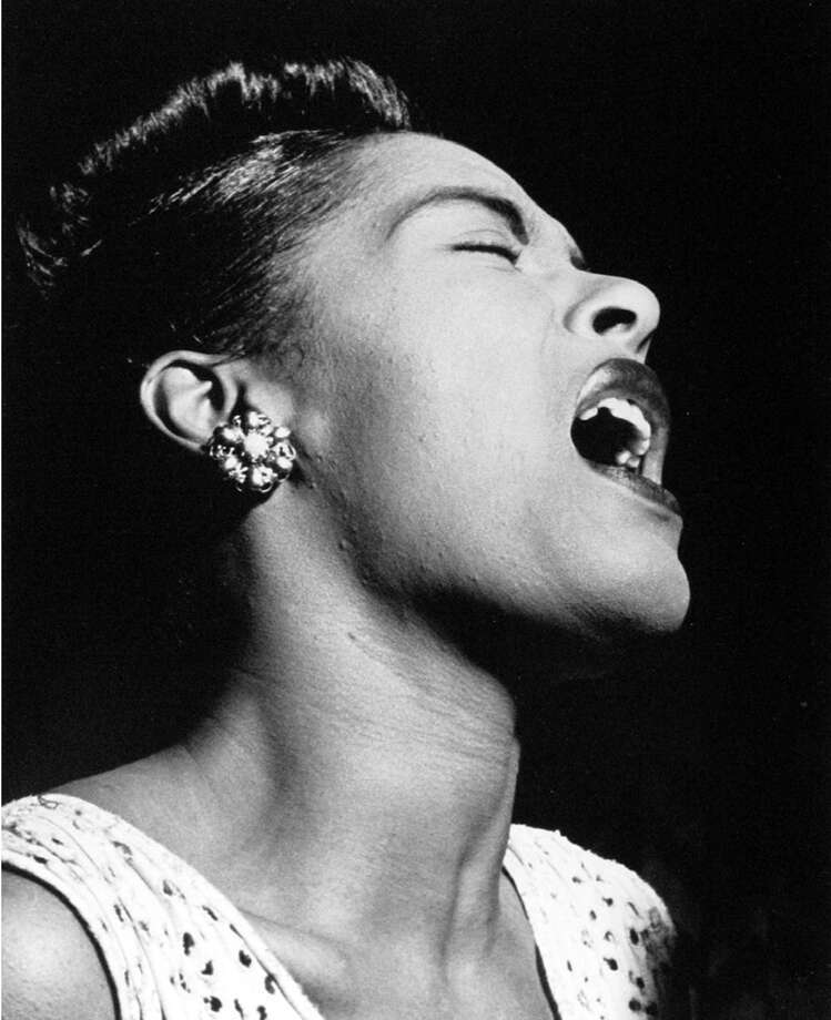 This photo of Billie Holiday (c. 1948). Photo: William P. Gottlieb Alicia
