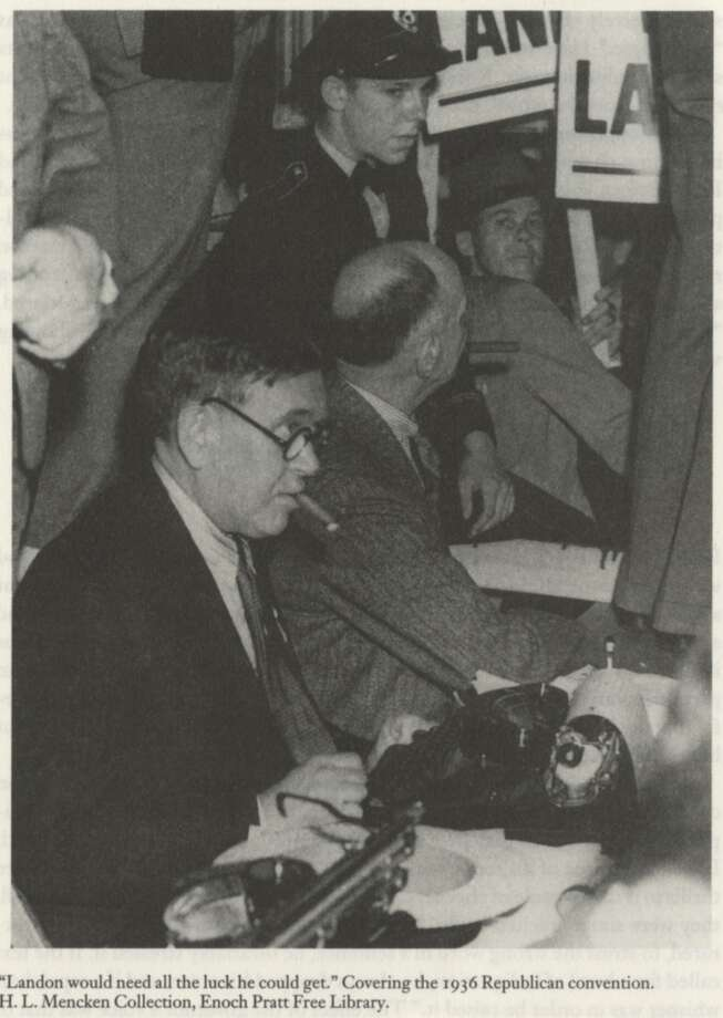 H.L. Mencken covering the 1936 Republican convention. Photo: NO BYLINE, H.L. Mencken Collection, Enoch P