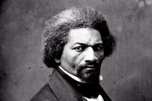 """Portrait of Frederick Douglass, circa 1860 from, """"The Abolitionists,"""" on American Experience."""