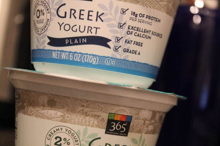 Yogurt with live cultures.