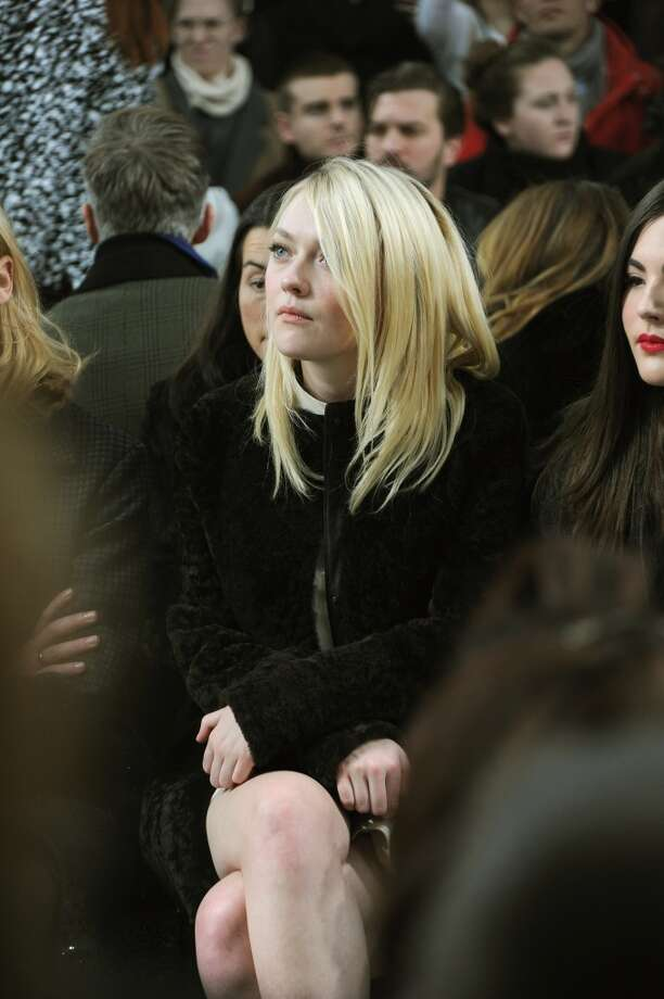 Actress Dakota Fanning attends the Proenza Schouler fashion show during Mercedes-Benz Fashion Week Fall 2014 on February 12, 2014 in New York City. Photo: Ben Gabbe, Getty Images