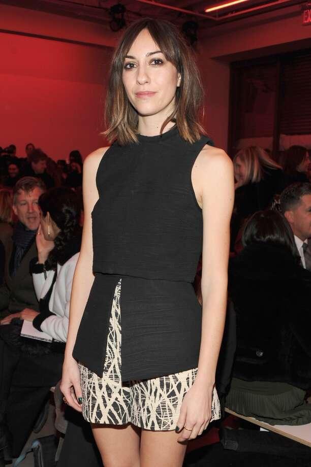 Alexa Chung attends the Proenza Schouler fashion show. Photo: Ben Gabbe, Getty Images