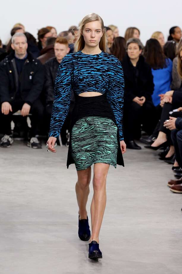 A model walks the runway at the Proenza Schouler fashion show. Photo: Neilson Barnard, Getty Images