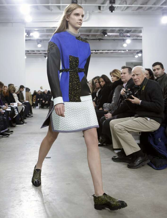 A model walks the runway at the Proenza Schouler fashion show. Photo: Kathy Willens, Associated Press