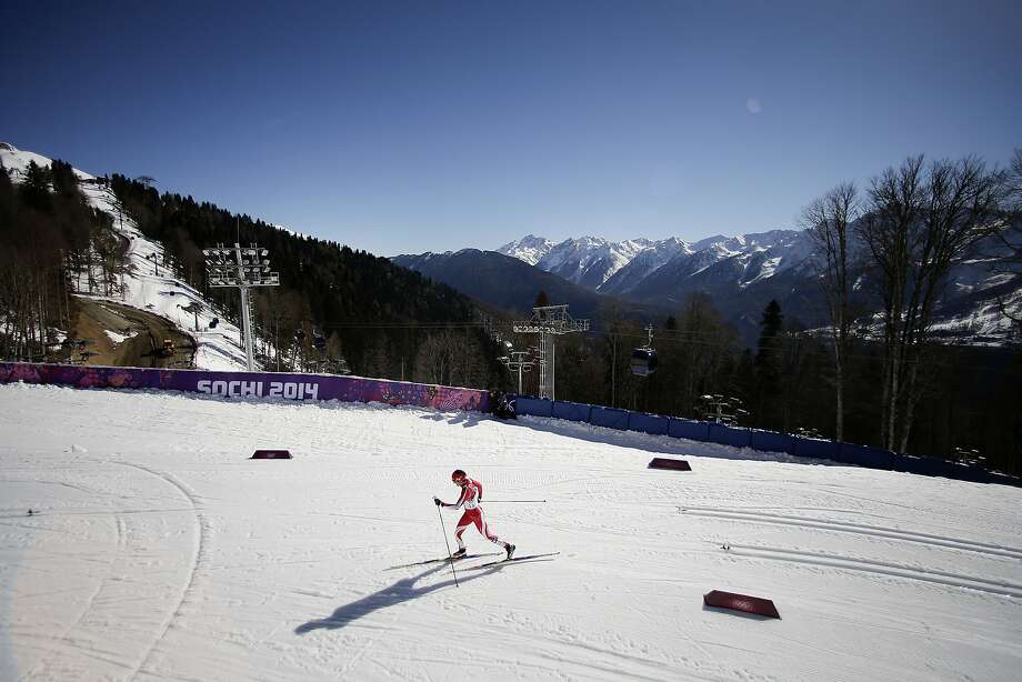 Poland's Paulina Maciuszek competes during the women's 10K classical-style cross-country race at the 2014 Winter Olympics, Thursday, Feb. 13, 2014, in Krasnaya Polyana, Russia. Photo: Jae C. Hong, Associated Press