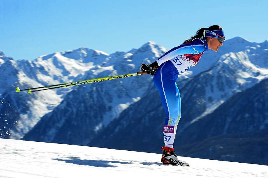 Aino-Kaisa Saarinen of Finland competes in the Women's 10 km Classic during day six of the Sochi 2014 Winter Olympics at Laura Cross-country Ski & Biathlon Center on February 13, 2014 in Sochi, Russia. Photo: Harry How, Getty Images