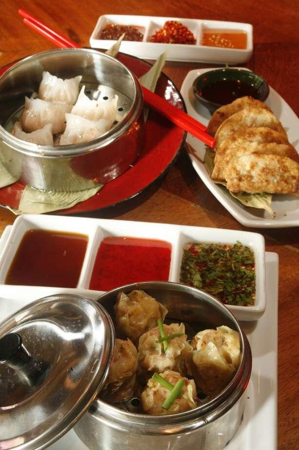 Dumplings at Gigi's Asian Bistro & Dumpling Bar in the Galleria.  (Photo: Steve Ueckert / Chronicle) Photo: Steve Ueckert, Houston Chronicle
