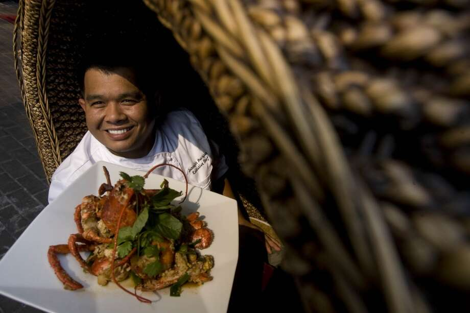 Chef Junnajet Hurapan signature dish a lobster at Gigi's Asian Bistro in the Galleria on July 09, 2009.   (Photo: Mayra Beltran / Chronicle ) Photo: Mayra Beltran, Houston Chronicle