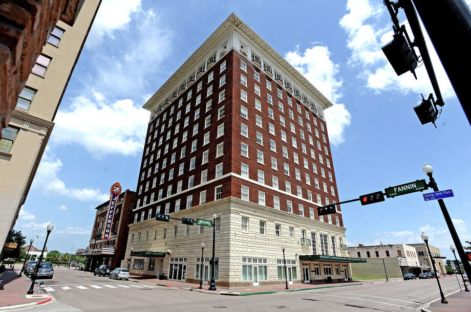 The Hotel Beaumont was built in 1922. The building is 11 stories tall, and has 250 rooms. The building contains two ballrooms, the Rose Room, and the Sky Room on the Roof, both of which were used many times during the structures colorful history.  Photo taken Friday, August 2, 2013. Photo taken: Randy Edwards/The Enterprise