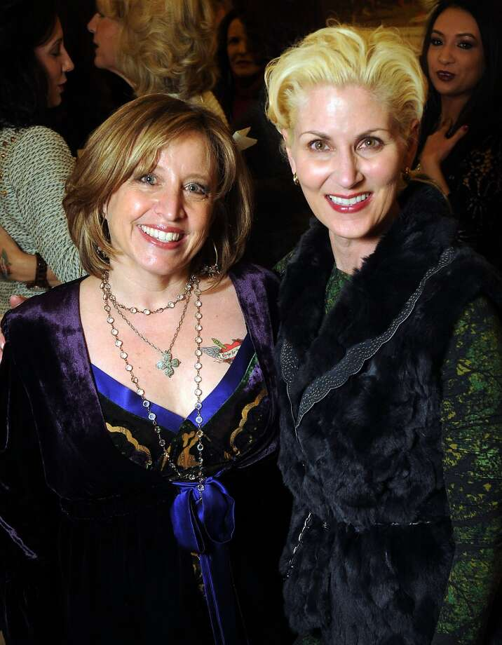 Karen Penner and Paula Mott at the Sox, Love and Rock & Roll fashion show benefitting Recipe for Success at M. Penner Tuesday Feb 11.(Dave Rossman photo) Photo: Dave Rossman, For The Houston Chronicle