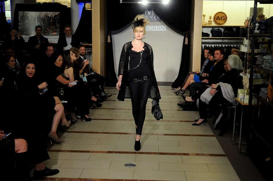 A model walks the runway.(Dave Rossman photo) Photo: Dave Rossman, For The Houston Chronicle