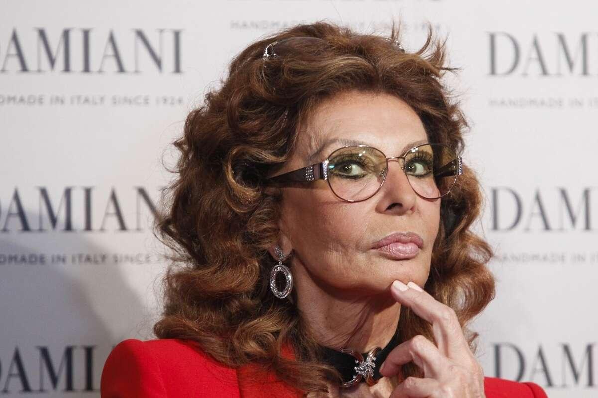 Sophia Loren seen here in 2013.