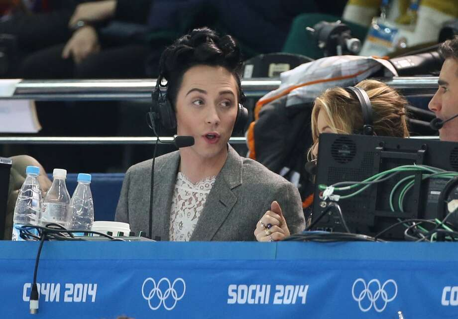 Johnny Weir of USA comments for NBC the Figure Skating Pairs Free Program on day 5 of the Sochi 2014 Winter Olympics at Iceberg Skating Palace on February 12, 2014 in Sochi, Russia. (Photo by John Berry/Getty Images) Photo: John Berry, Getty Images