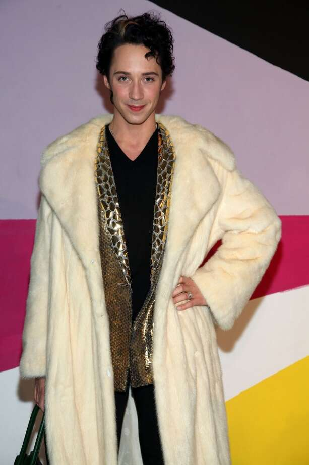 Figure skater Johnny Weir poses on the runway at the Alice + Olivia Fall 2012 Presentation during Mercedes-Benz Fashion Week at Center 548 on Feb. 13, 2012, in New York City.  (Photo by Astrid Stawiarz/Getty Images) Photo: Astrid Stawiarz, Getty Images