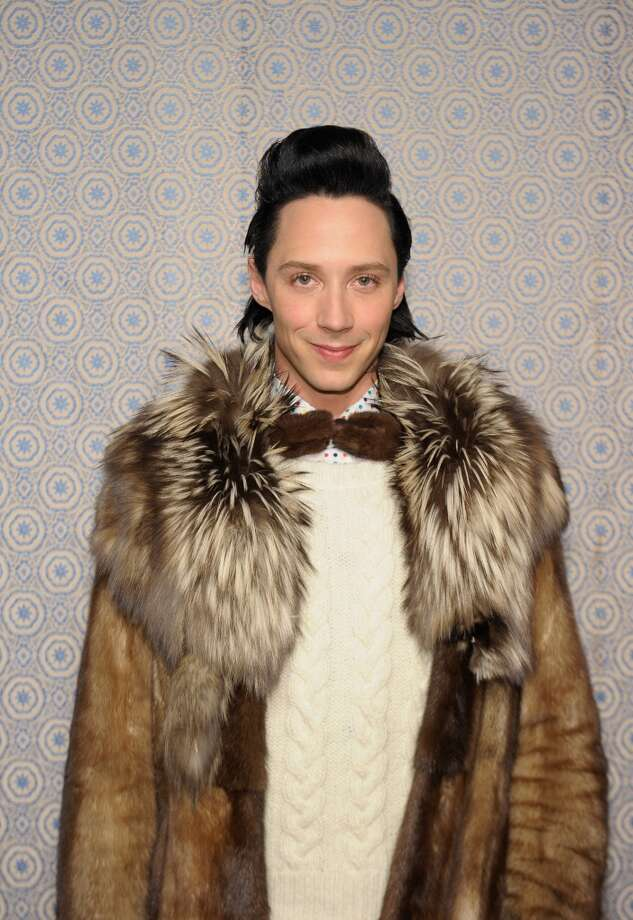 Johnny Weir attends the Alice + Olivia By Stacey Bendet Fall 2013 fashion show presentation during Mercedes-Benz Fashion Week on February 11, 2013 in New York City.  (Photo by Michael Loccisano/Getty Images) Photo: Michael Loccisano, Getty Images