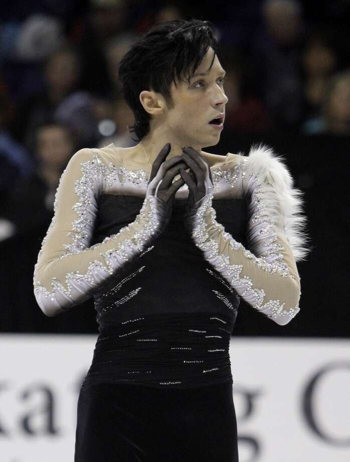 In this Jan. 17, 2010, file photo, Johnny Weir competes during the men's free skate at the U.S. Figure Skating Championships in Spokane, Wash., Sunday, Jan. 17, 2010. Photo: Elaine Thompson, AP