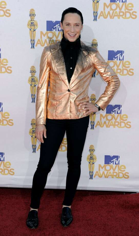 In this June 6, 2010, file photo, Johnny Weir arrives at the MTV Movie Awards in Universal City, Calif. (AP Photo/Chris Pizzello, File) Photo: Chris Pizzello, Associated Press