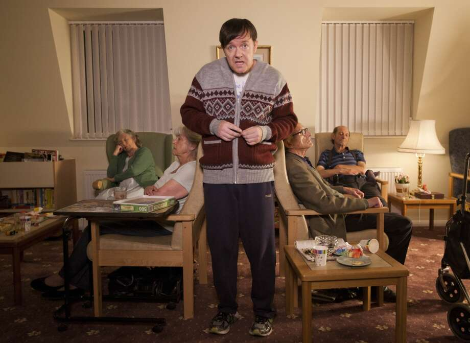 'Derek' – Comedian Ricky Gervias plays the titular role in this poignant comedy about an offbeat man working with his closest friends in a blue collar care home for Britain's elderly. Photo: Netflix