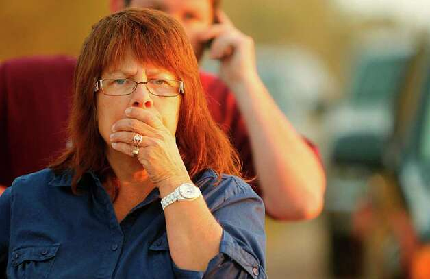 Dee Jagers, of Cy-Fair, drives to Waller County to check up on friends, but is unable to drive past police check points on Wednesday, Sept. 7, 2011, in Waller County. Photo: Mayra Beltran, Houston Chronicle / © 2011 Houston Chronicle