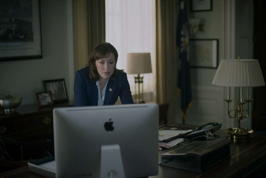 "Molly Parker in season 2 of Netflix's ""House of Cards."" Photo credit: Nathaniel Bell for Netflix."