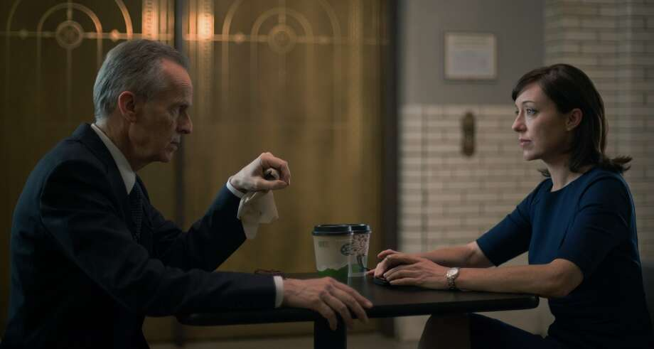 "David Clennon and Molly Parker in season 2 of Netflix's ""House of Cards."" Photo credit: Nathaniel Bell for Netflix."