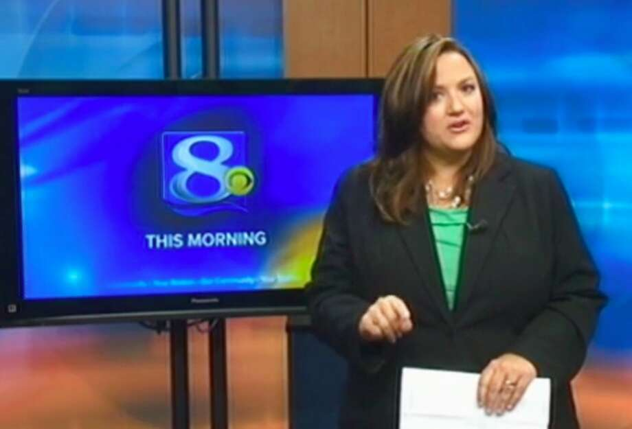 This frame grab provided by WKBT-TV in La Crosse, Wis., shows television anchorwoman Jennifer Livingston Tuesday, Oct. 2, 2012, during her broadcast responding to a viewer who wrote her an email criticizing her weight. Livingston says she thought nothing of the email. But she's angry that some children may not know to do the same when they're criticized, or worse, by bullies. (AP Photo/Courtesy WKBT-TV) Photo: Associated Press