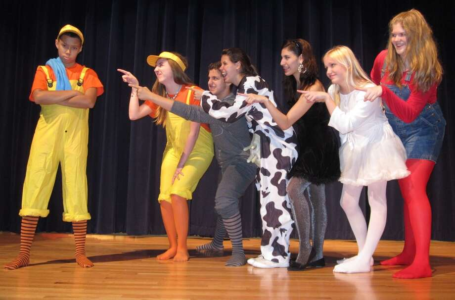 "The cast of  ""The Ugly Duckling"" includes, from left: Brice Phillips, Hannah Wilhite, Alex Martinez, Courtney Slavin, Janyce Villarreal, Lindsey Vrana and Lizzi Cook. Cypress Creek High School Department of Theater will present the children?s play  at the Cypress Creek High School auditorium, 9815 Grant Road, Houston.  The department will join with the No Place For Hate Anti-Defamation League to spread awareness about bullying among children in schools."