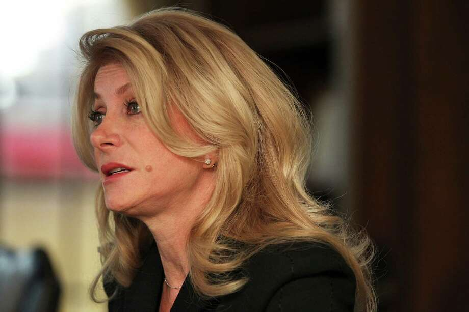Texas Democratic gubernatorial candidate Wendy Davis spoke to the San Antonio Express-News Editorial Board on Thursday, Feb. 13, 2013. Davis spoke about women's issues,  abortion, same-sex marriage, education and transportation funding, the state's rainy day fund and the Texas Enterprise Fund. Photo: Kin Man Hui, Kin Man Hui/San An Antonio Expre / © 2011 San Antonio Express-News