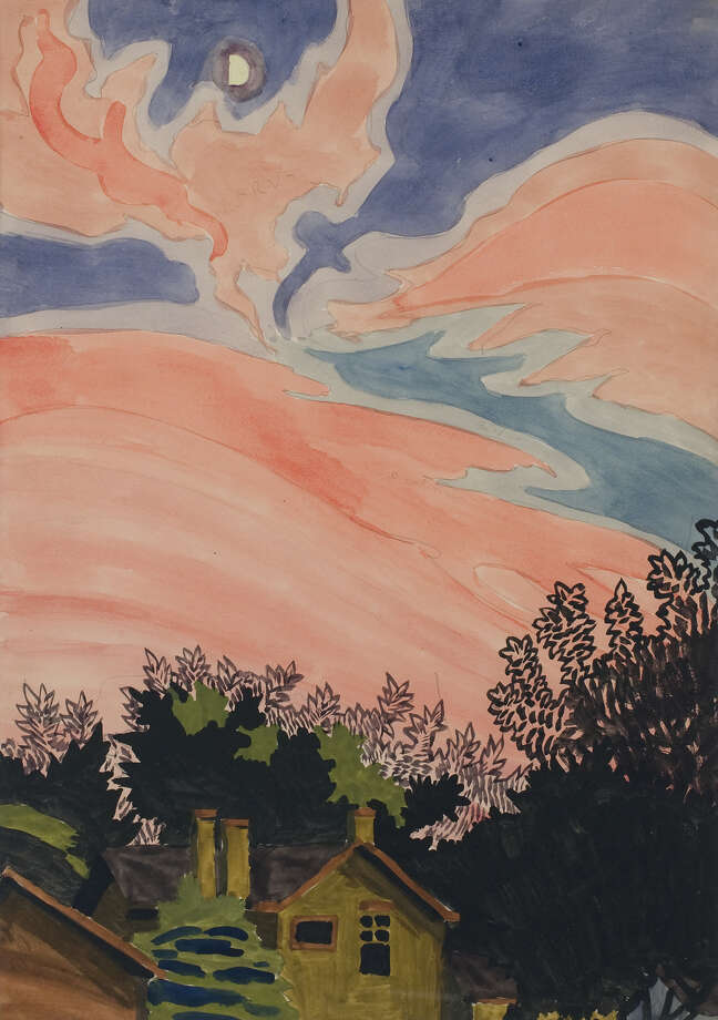 Afterglow, July 8, 1916 Watercolor and graphite on paper 19 3/8 x 14 in. (49.2 x 35.6 cm) Gift of Tony Sisti, 1979