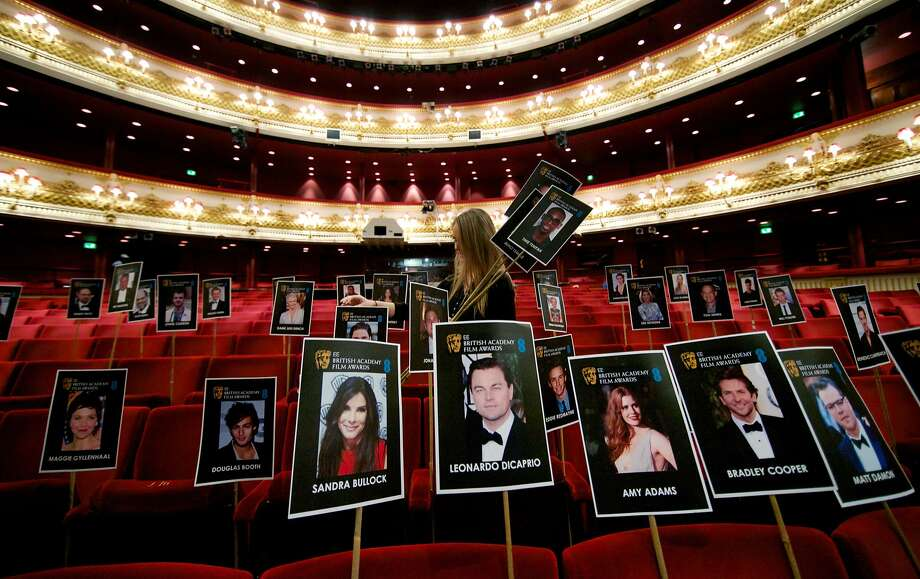 A-listers only in front:The British Academy of Film and Television Arts has placed photographs of BAFTA awards attendees on seats at the Royal Opera House in 