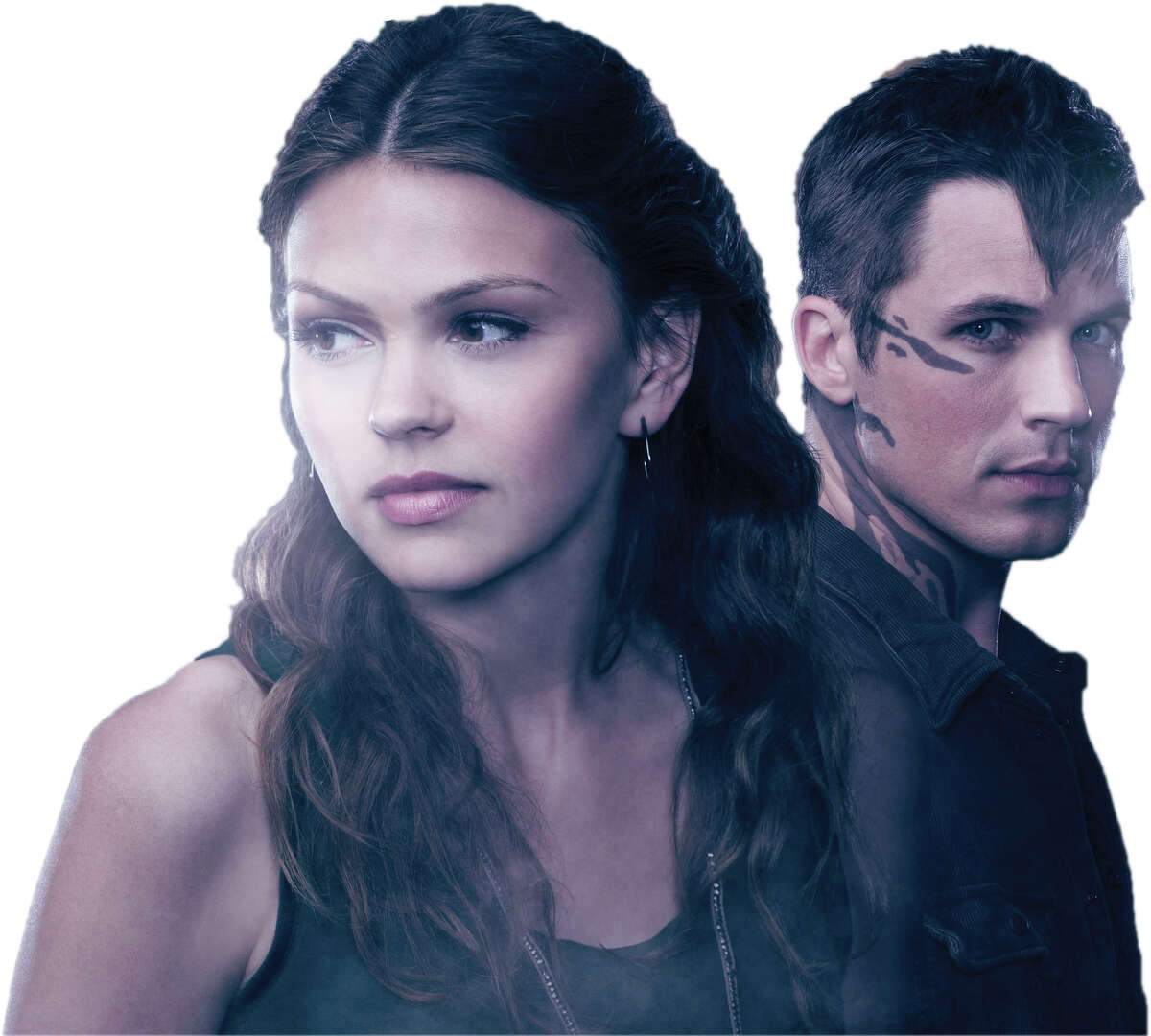 "Aimee Teegarden stars as the human Emery and Matt Lanter as the alien Roman in ""Star-Crossed."""